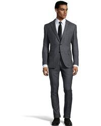 Ermenegildo Zegna Grigio Birdseye Wool 2-Button 'Mila' Suit Wth Flat Front Pants - Lyst