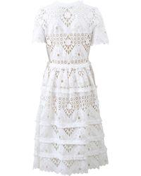 Alexis Benati Crochet Dress white - Lyst