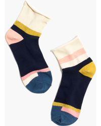 Madewell | Mismatch Bouclé Colorblock Ankle Socks | Lyst