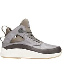 Article No. - Men's Leather & Mesh Mid-top Trainers - Lyst