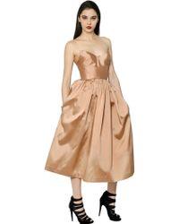 Maria Lucia Hohan Silk Taffeta Bustier Dress - Lyst