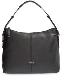 Cole Haan 'Emma' Pebbled Leather Hobo black - Lyst