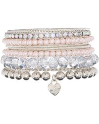 Lipsy - Sparkle Bangle Multipack - Lyst