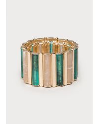 Bebe - Linear Stretch Bracelet - Lyst