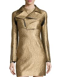 Creatures of the Wind - Metallic Cropped Moto Jacket - Lyst