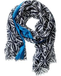 Banana Republic Gina Scarf Preppy Navy - Lyst