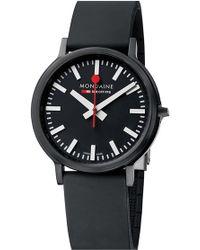 Mondaine - 'stop 2 Go' Rubber Strap Watch - Lyst
