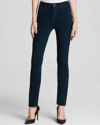 Jen7 - Brushed Sateen Skinny Jeans In Berry - Lyst