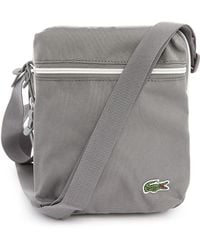 Lacoste Grey Messenger Bag Small Format - Lyst