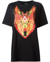 Marcelo Burlon County Of Milan Wolf Print T-shirt - Lyst