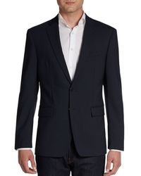 Calvin Klein Small Checked Stretch Wool Sportcoatextreme Slimfit - Lyst