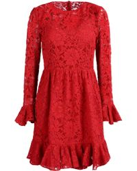 Dolce & Gabbana Red Short Dress - Lyst