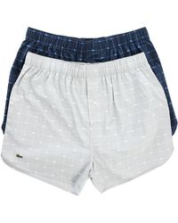 Lacoste 2-Pack Navy Crocodile Logo Underpants blue - Lyst