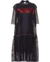 Kolor - Broderie-anglaise Embellished Dress - Lyst