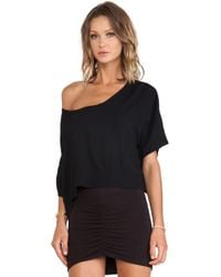 Bella Luxx - Crepe Cropped Scoop - Lyst