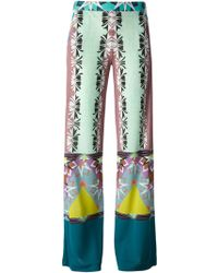 Etro Printed Wide Leg Trousers - Lyst