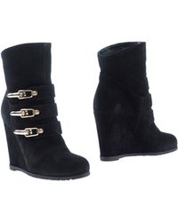 Pinko Black Ankle Boots - Lyst