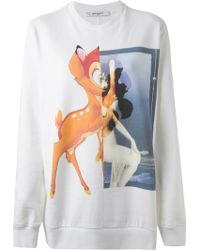 Givenchy Bambi-Print Cotton Sweatshirt - Lyst