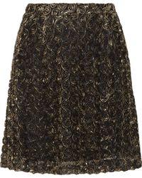 Alice By Temperley - Donna Lamé Rosette-Appliquéd Tulle Mini Skirt - Lyst