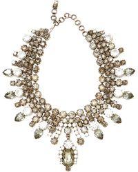 Carole Tanenbaum - Alan Anderson Crystal Bib Necklace - Lyst