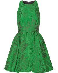 Alice + Olivia Tevin Jacquard Mini Dress - Lyst