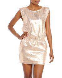 Maje Rose Metallic Dress - Lyst