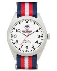 Jack Mason Brand - 'university Of Connecticut Huskies' Stripe Nato Strap Watch - Lyst