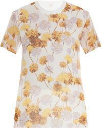 Giambattista Valli Floral Silk Top - Lyst