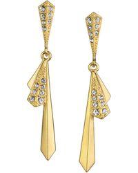 Sam Edelman Crystallized Fan Drop Earrings - Lyst