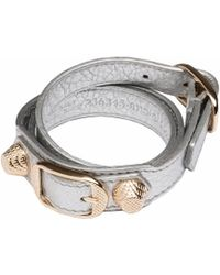 Balenciaga Giant Gold Bracelet Triple Tour - Lyst