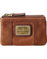 Fossil - Emory Zipped Leather Coin Purse - Lyst
