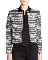 Alice + Olivia Kidman Cropped Tweed Jacket - Lyst