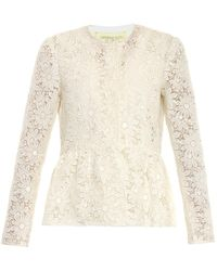 Giambattista Valli Margherita Floral Macramé-lace Jacket - Lyst