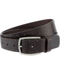 Ted Baker Studded Leather Belt Brown - Lyst