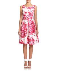 Kay Unger Duiponi Floral-Print Dress - Lyst