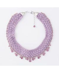 Paul Smith Pink Beaded And Amethyst 'Cleopatra' Necklace - Lyst