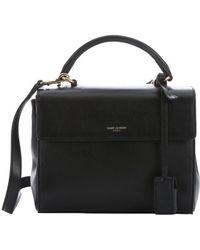 Saint Laurent - Black Leather Small 'Moujik' Convertible Box Satchel - Lyst