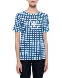 Tory Burch Logo-Print Cotton T-Shirt - Lyst