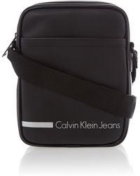 Calvin Klein Black Reporter Bag - Lyst