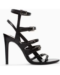 Zara Leather High Heel Sandal Bootie - Lyst