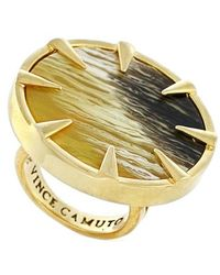 Vince Camuto - Circular Ring - Olive Horn/ Gold - Lyst
