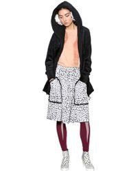 Tsumori Chisato | Hooded Plush Zip Up Coat | Lyst