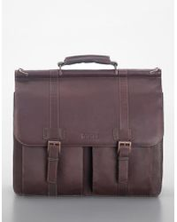 Kenneth Cole Reaction - Leather Dowel Bag - Lyst