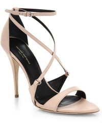 Narciso Rodriguez Ava Italian Leather Sandals - Lyst