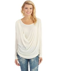 Free People Draped Buckley Pullover - Lyst