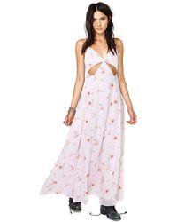 Nasty Gal Falling Lilies Maxi Dress - Lyst