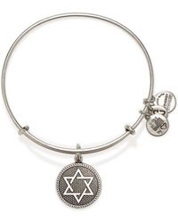 ALEX AND ANI Star Of David Iii Expandable Wire Bangle - Lyst