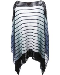Missoni Striped Poncho - Lyst