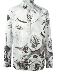 Etro Plates Print Shirt - Lyst