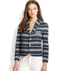 Ralph Lauren Blue Label Braylin Striped Jacket - Lyst